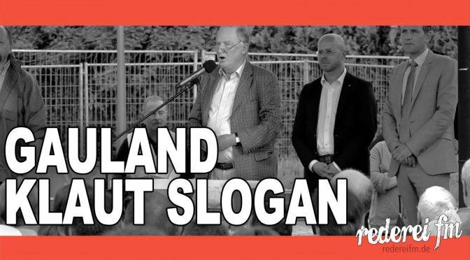 """Alexander Gauland (AfD) """"Heute sind wir tolerant und morgen fremd im eigenen Land."""""""
