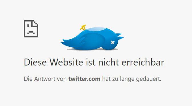UPDATE: Twitter Down – Der Vogel lebt aber wieder